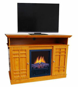 Electric Fireplace Tv Stand Media Entertainment Center Heater Flame Wood New Ebay