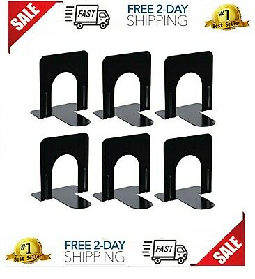 Black Bookend Supports Business Source 2 Pairs, Small