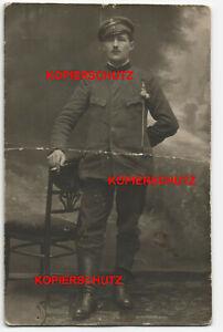 Altes-Foto-Studio-Portrait-Bahnhof-Siedlez-Siedlce-Eisenbahn-Soldat-Polen-Photo