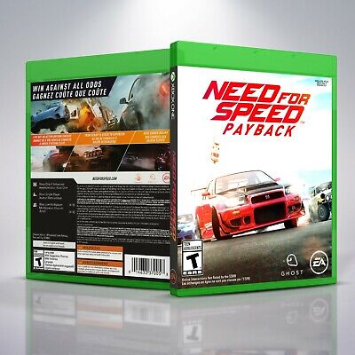 Need For Speed Payback Replacement Xbox One Cover And Case No