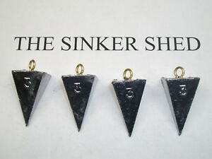Lead Surf Fishing Pyramid Sinkers Weights FREE Shipping Choose Size