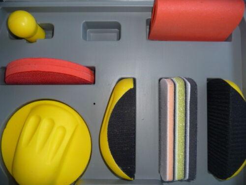 Handblock Set  Schleifkeil  Schleifklotz im Koffer 9 Teile Schleifklotzset