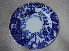 """VINTAGE ROYAL CROWN DERBY GILDED SIDE PLATE FLOW BLUE MIKADO 6.25"""" IMPRESSED V"""