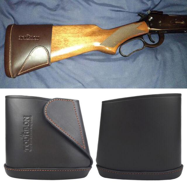 Tourbon Leather Slip-on Recoil Pad Rifle//Shotgun Buttstock Extension Large//Small