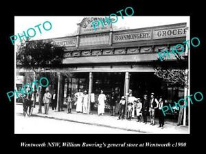 OLD-LARGE-HISTORIC-PHOTO-OF-WENTWORTH-NSW-THE-BOWRING-GENERAL-STORE-c1900
