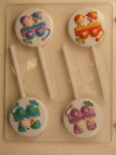 TWINS IN A WAGON LOLLIPOP CHOCOLATE CANDY MOLD PARTY FAVOR FAVORS BABY SHOWER
