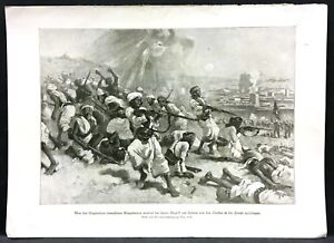 Yemen-Loheia-Turkish-Troops-amp-Eingeborene-Military-WK1-Art-Print-W-4163