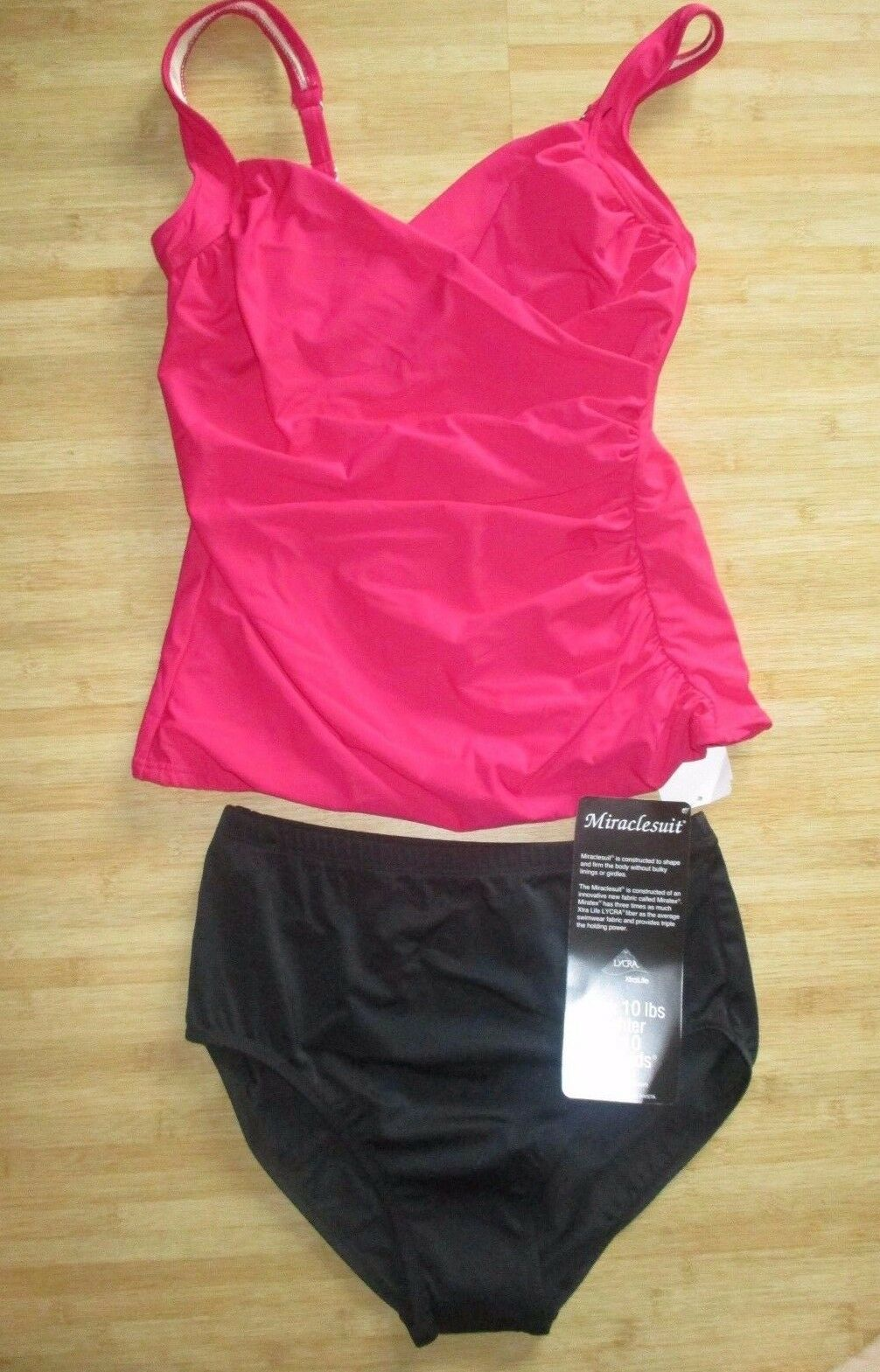 NEW MAGICSUIT MIRACLESUIT 2 PC TANKINI SWIMSUIT 10 40 Sanibel Radiant Raspberry