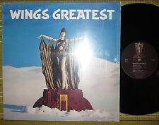 WINGS, WINGS GREATEST, LP 1978 UK YEX 983-1/YEX 984-1 VG+/EX WITH POSTER & INNER