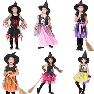 Image is loading Girls-Wicked-Witch-School-Halloween-Costume-Kids-Fancy-  sc 1 st  eBay & Girls Wicked Witch School Halloween Costume Kids Fancy Dress Book ...