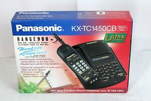 Panasonic-Range-900-Cordless-Black-Phone-KX-TC1450CB-New-In-Box