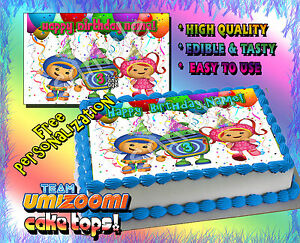 Terrific 1 Team Umizoomi Birthday Cake Topper Edible Picture Image Sugar Personalised Birthday Cards Paralily Jamesorg