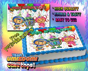 Peachy 1 Team Umizoomi Birthday Cake Topper Edible Picture Image Sugar Personalised Birthday Cards Arneslily Jamesorg