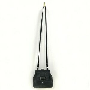 TED-BAKER-Black-Leather-Casual-Small-Across-Body-Strap-Shoulder-Bag-Women-511726