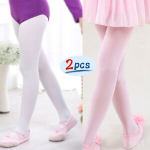 4d25cfd9819 Image is loading Girls-Stretch-Stockings-Kids-Hosiery-Dance-Ballet-Footed-