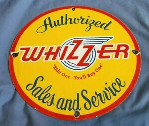 WHIZZER-BIKE-MOTORCYCLE-PORCELAIN-GAS-VINTAGE-STYLE-SERVICE-SERVICE-STATION-SIGN