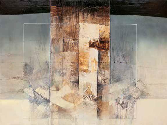 Censini  Nebbie d'aprile Keilrahmen-Bild Leinwand abstrakt modern