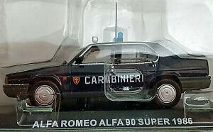Alfa-Romeo-Alfa-90-Super-1986-Carabinieri-Scala-1-43-Atlas-Nuovo