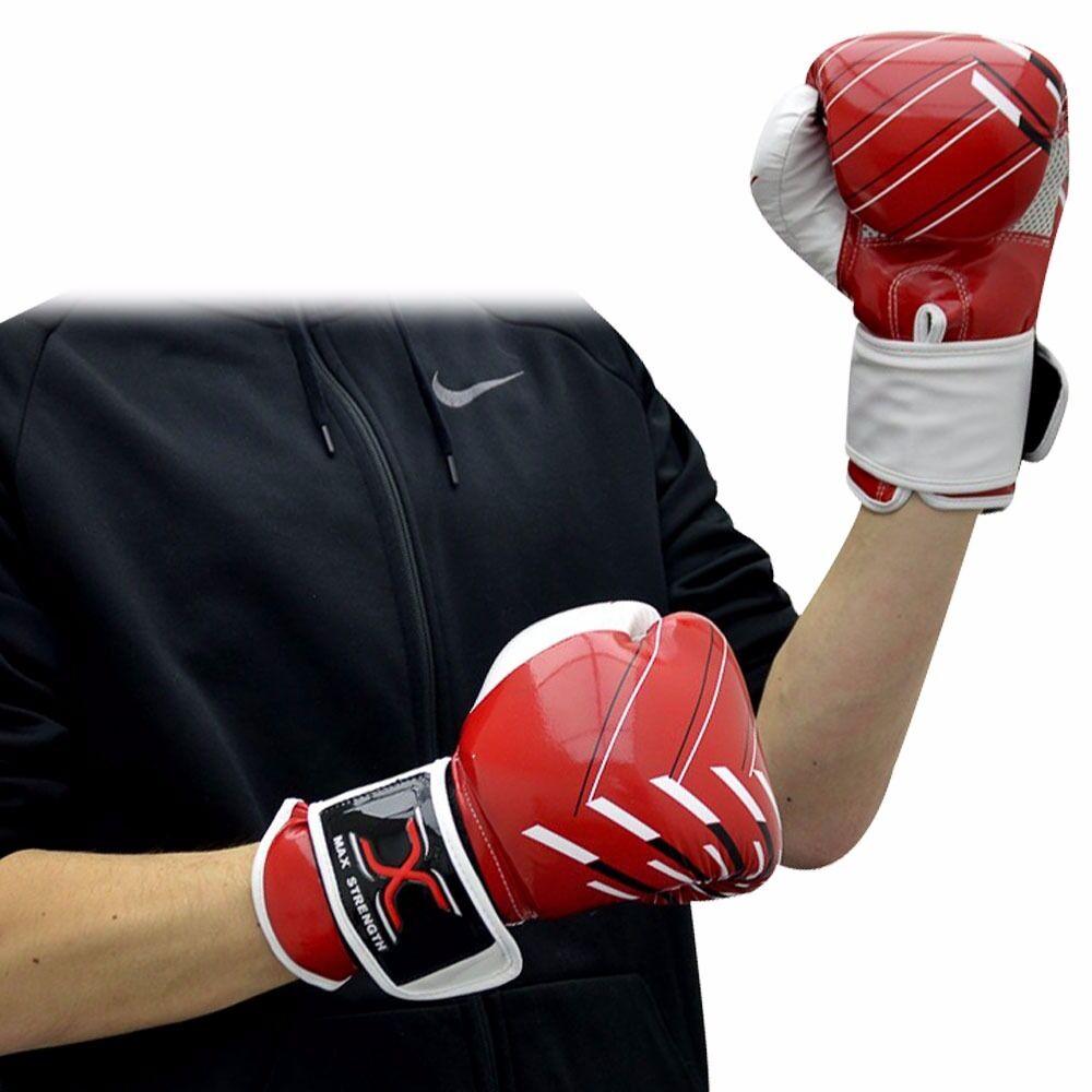 Gel, Gepolstert Boxen Punch Handschuhe Maya Leder UFC MMA Kampftraining