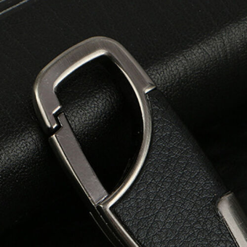 Hot Men Creative Metal Leather Key Chain Ring Keyfob Car Keyring Keychain Gifts