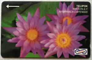 Malaysia-Used-Phone-Card-Flower-Waterlily