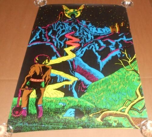 The Castle Black Light 1971 Original Vintage Poster (Caveman) 33x21