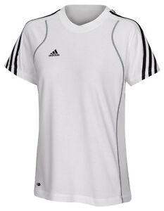 adidas-Damen-T-Shirt-weiss-Laufshirt-Sportshirt-Training-Fitness-Gr-XS-S-M-L-XL