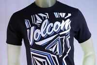 Volcom Black Men's T-shirt volcom Blue & White Logo Graphic T-shirt Size Small