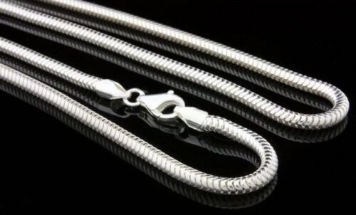 Serpientes cadena 925 cadena de plata cadena 1,6mm en 45cm real plata made in Germany