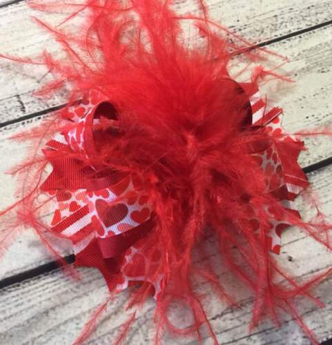 Valentine Hair Bow,Valentine Over The Top Hair Bow,Baby Headband