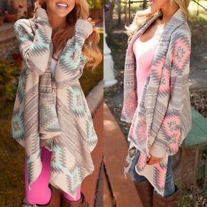 Lady-amp-Women-Long-Cardigan-Loose-Sweater-Sleeve-Knitted-Outwear-Jacket-Coat-Tops