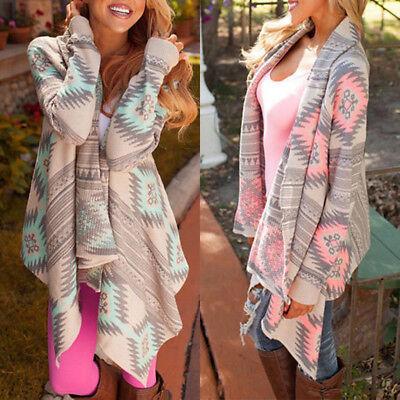 New Women Long Sleeve Knitted Cardigan Loose Sweater Outwear Sweater Coat Tops