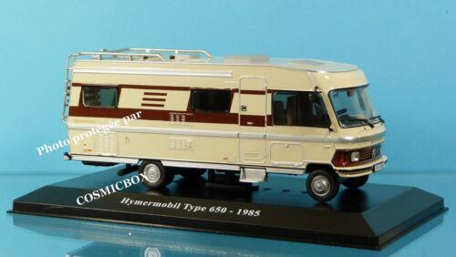 Camping-car HYMERMOBIL type 650 de 1985 fabricant Hymer intégral caravane NEUF