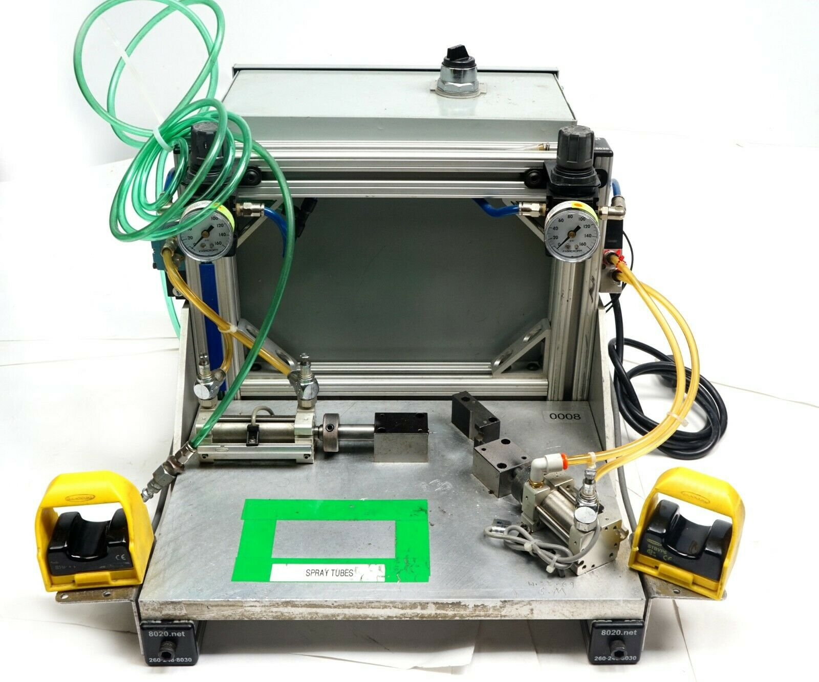 Laboratory Pneumatic PLC Portable Dual Press