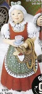 Ceramic Bisque Ready to Paint Mrs. Santa