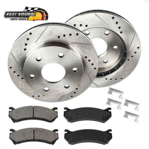 For Frontier Pathfinder FRONT DRILLED SLOTTED BRAKE ROTORS AND CERAMIC PADS