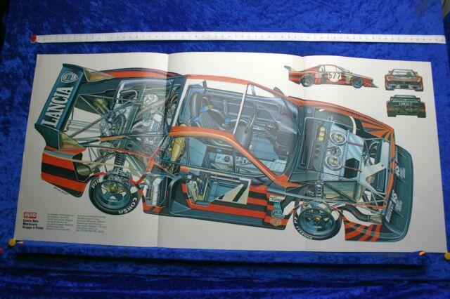 Poster Lancia Beta Montecarlo Group 5 Turbo Sectional
