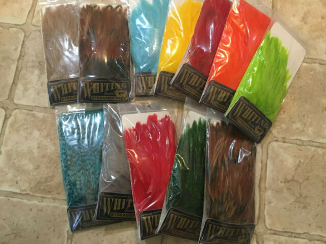 Fly Tying-Whiting Farms Streamer Pack Grizzly dyed Tan