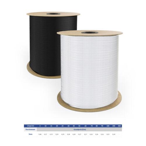 Polypropylenseil Schnur Tauwerk Textilseil PP Leine Weiss Schwarz 2-8mm