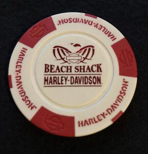 "Orange /& Black Harley Davidson Poker Chip /""Panama City Beach/"" Florida"