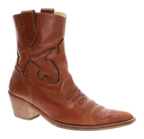 NEIMAN MARCUS Cowboy Boots 7 Womens Cutouts Overla