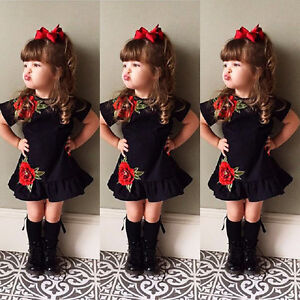 3edcf0d61 US Boutique Toddler Kids Baby Girl 3D Flower Summer Party Dress ...