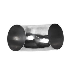 3.5/'/'//89mm Diameter Stainless Steel 90 Degree Bend Elbow Exhaust Pipe Fitting