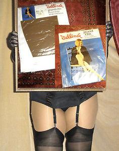 Vintage Straps StrÜmpfe Bellinda Grand Chic 9,5-10 Hellmode 30den Nylons Bas