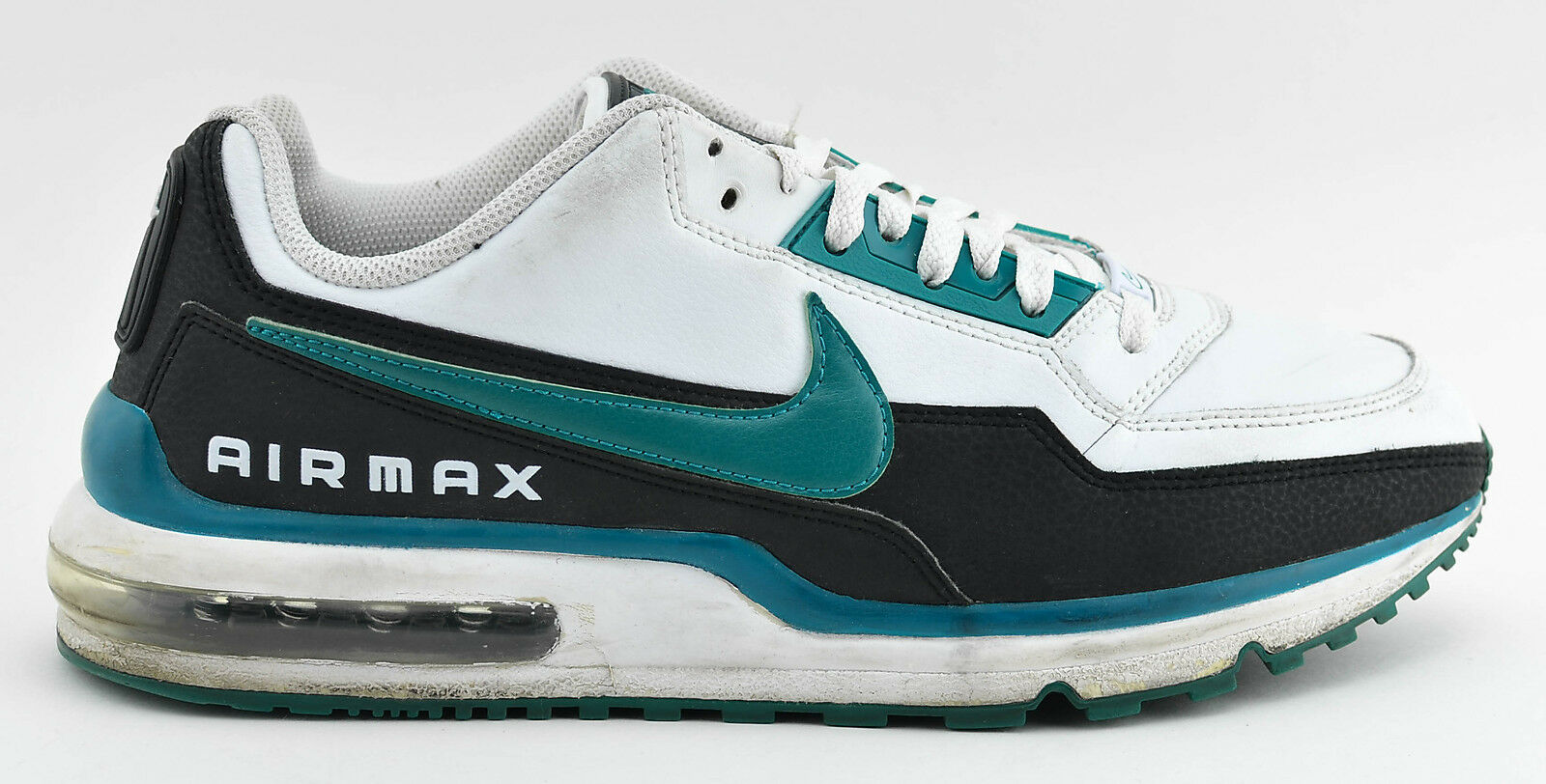 MENS NIKE AIR MAX LTD RUNNING SHOES SIZE 11.5 WHITE BLACK TURQUOISE 407979 149