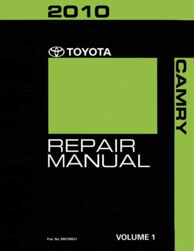 2010 Toyota Camry Shop Service Repair Manual Volume 1 Only