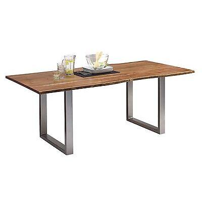 Esstisch Queens 200x100cm, Tisch, Akazie, Massiv, Natur geölt, Baumkante