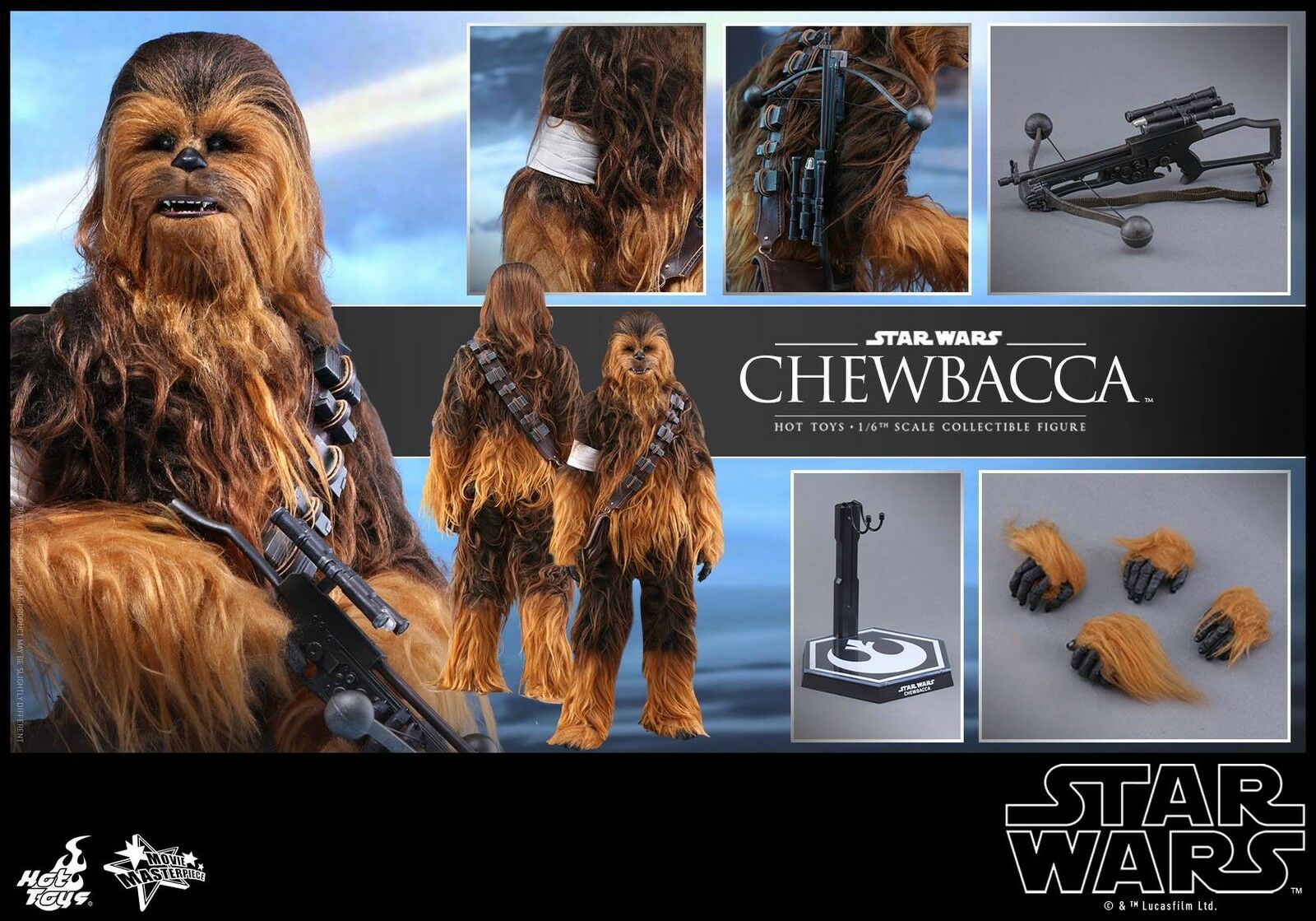 HOT TOYS 1/6 STAR WARS THE FORCE FORCE FORCE AWAKENS MMS375 CHEWBACCA MASTERPIECE FIGURE 95df1c