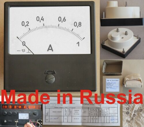 0-1A  DC ±1.5/% 80x80mm Russia M42300 ammeter current meter amp analog panel