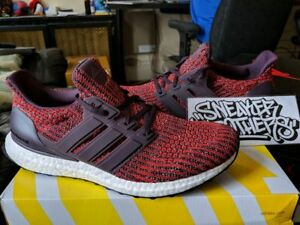 4889255e10031 Adidas Ultra Boost M ESM LTD 4.0 Maroon Deep Burgundy Energy Red ...